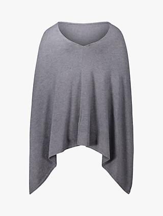 Betty Barclay Knitted Poncho, Mid Grey Melange