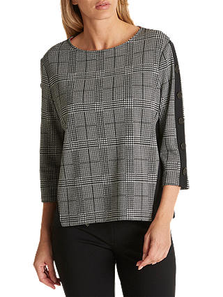 Buy Betty Barclay Houndstooth Check Top, Black/Cream, 10 Online at johnlewis.com