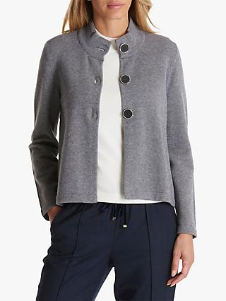 Betty Barclay High Neck Cardigan, Grey Melange