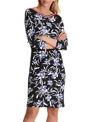 Buy Betty Barclay Sporty Floral Print Jersey Dress, Black/Cream, 10 Online at johnlewis.com