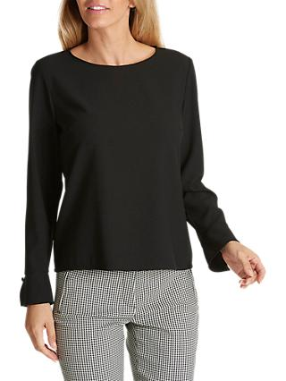 Betty Barclay Crepe Blouse, Black