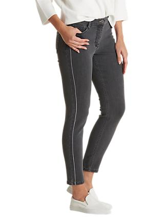Betty Barclay Slim Fit Stripe Jeans, Dark Grey