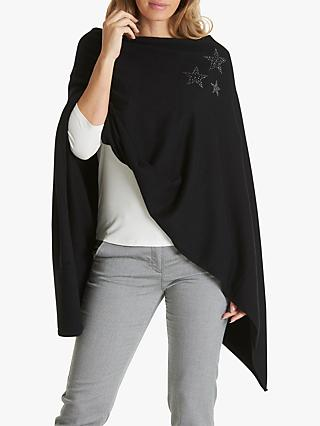 Betty Barclay Embellished Poncho, Black