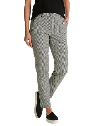 Buy Betty Barclay Houndstooth Trousers, Black/Cream, 20 Online at johnlewis.com