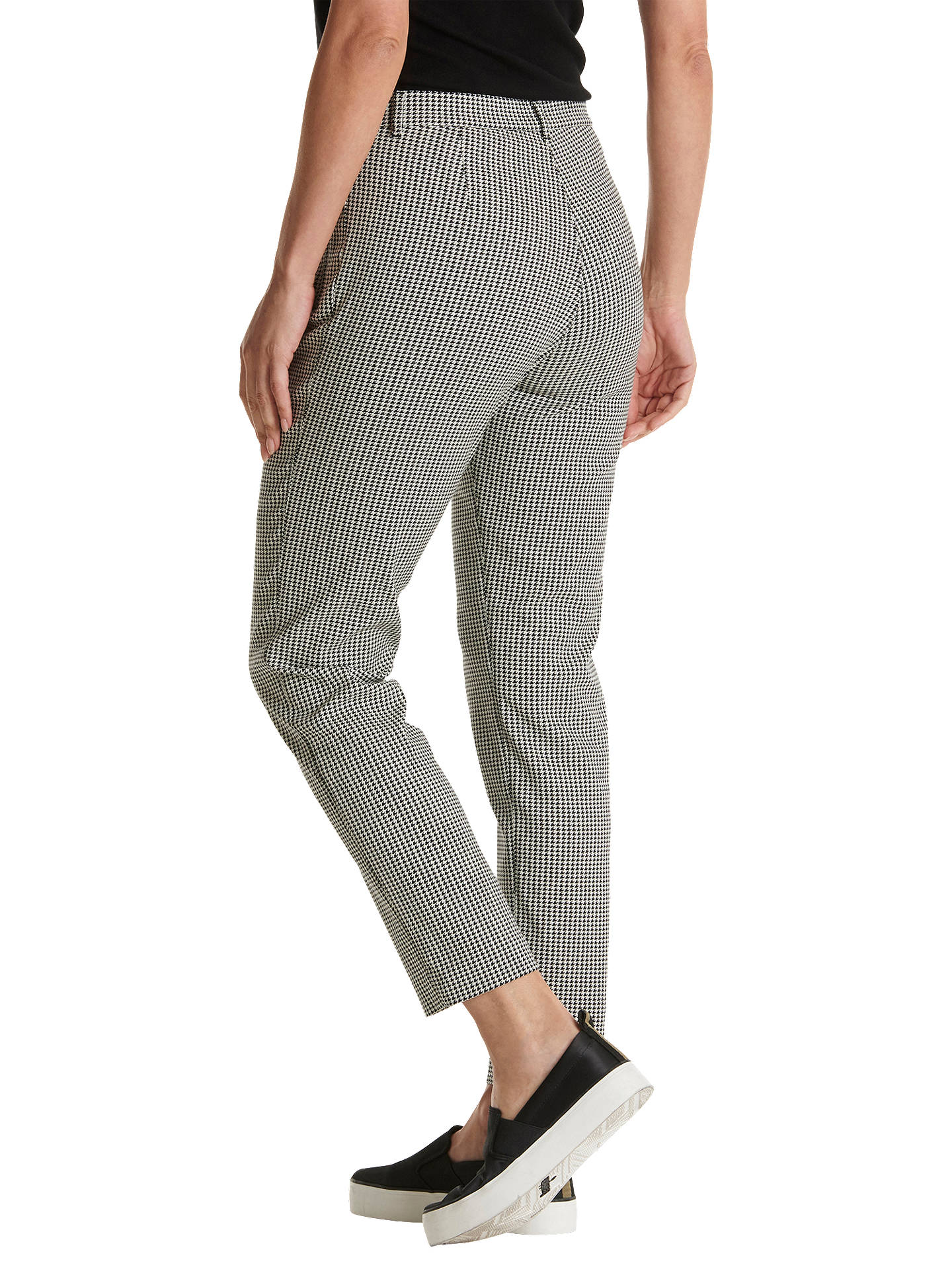 BuyBetty Barclay Houndstooth Trousers, Black/Cream, 20 Online at johnlewis.com