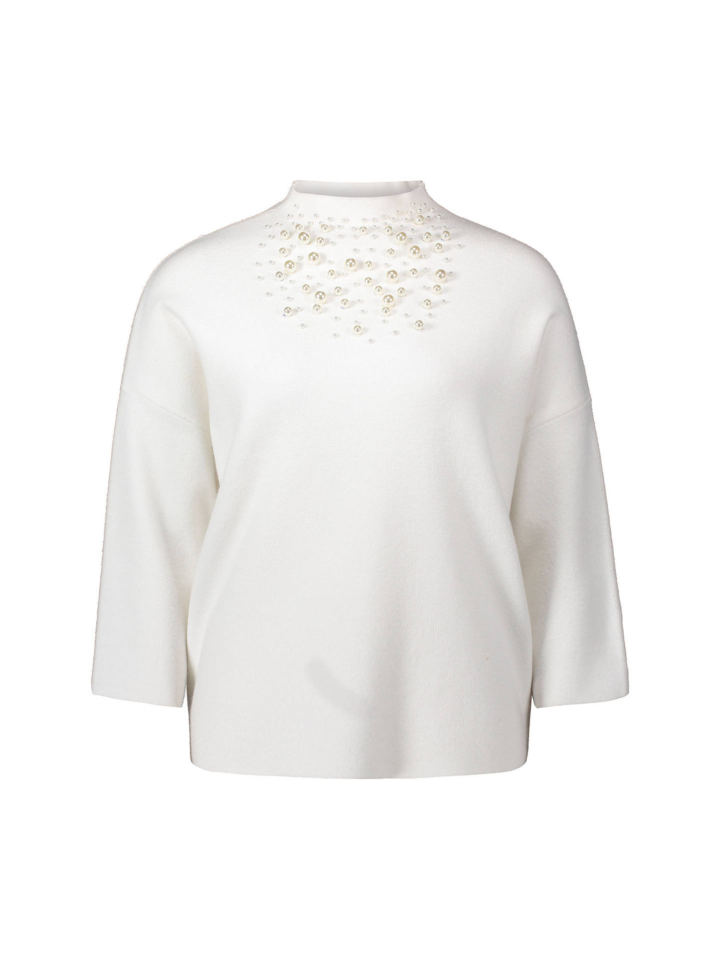 BuyBetty Barclay Pearl Embellished Knit Jumper, Offwhite, 14 Online at johnlewis.com