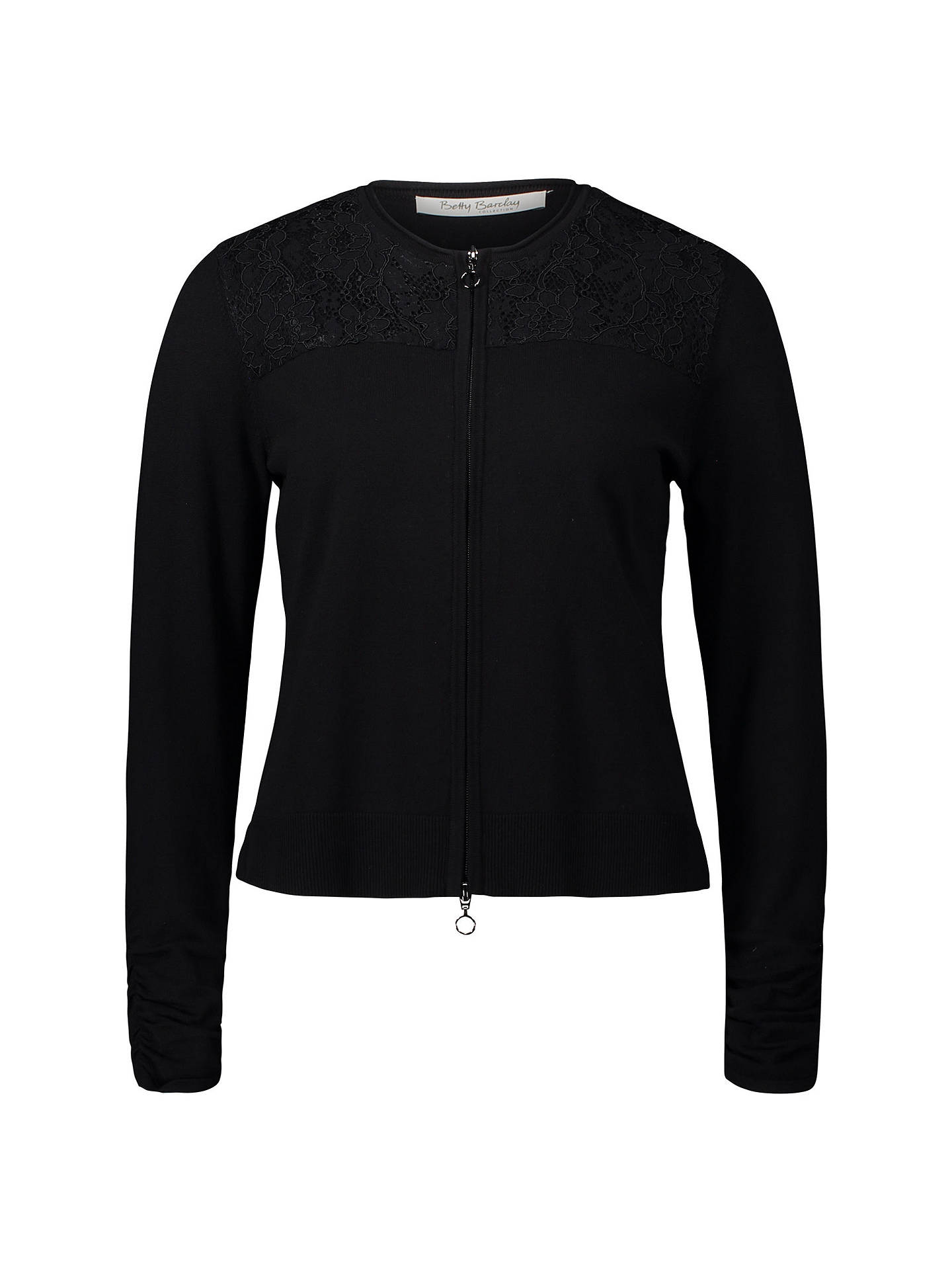 Buy Betty Barclay Lace Trim Cardigan, Black, 10 Online at johnlewis.com