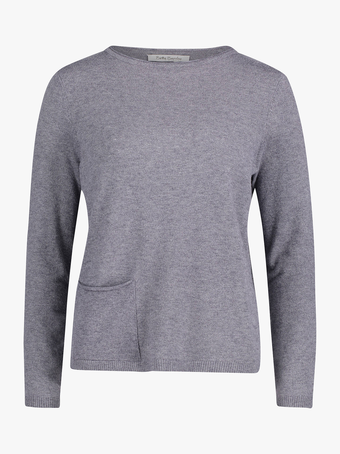 BuyBetty Barclay Fine Knit Jumper, Mid Grey Melange, 10 Online at johnlewis.com