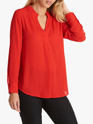 Buy Betty Barclay V-Neck Blouse, Hibiscus Red, 10 Online at johnlewis.com