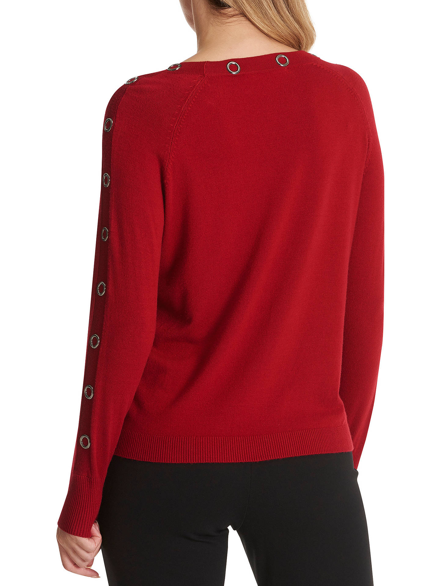 Buy Betty Barclay Keyhole Slit Metallic Knit Jumper, Chili Red, 10 Online at johnlewis.com