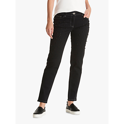 Betty Barclay Embellished Jeans, Black