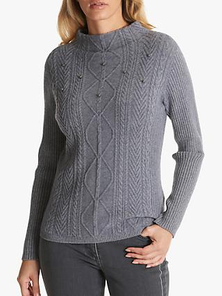 Betty Barclay Beaded Jumper, Middle Grey Melange