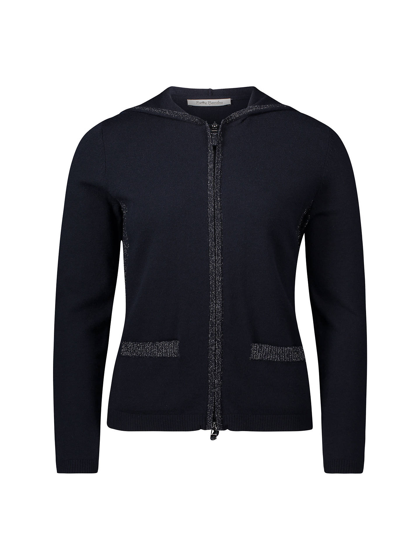 BuyBetty Barclay Hooded Cardigan, Dark Sky, 10 Online at johnlewis.com
