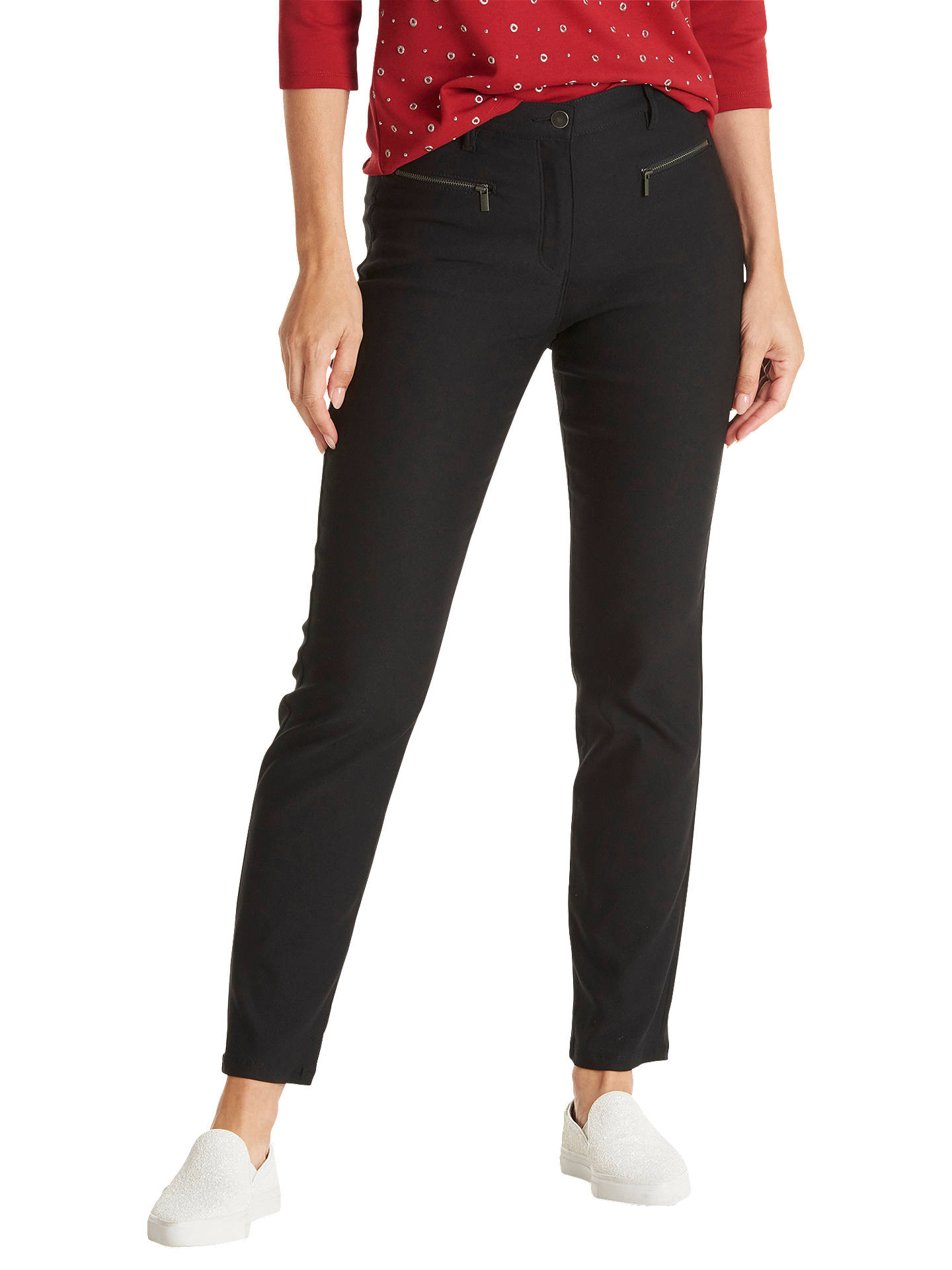 Buy Betty Barclay Slim Fit Casual Trousers, Black, 10 Online at johnlewis.com