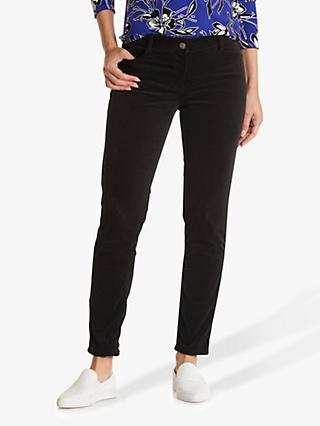Betty Barclay Slim Fit Brushed Cotton Jeans, Black