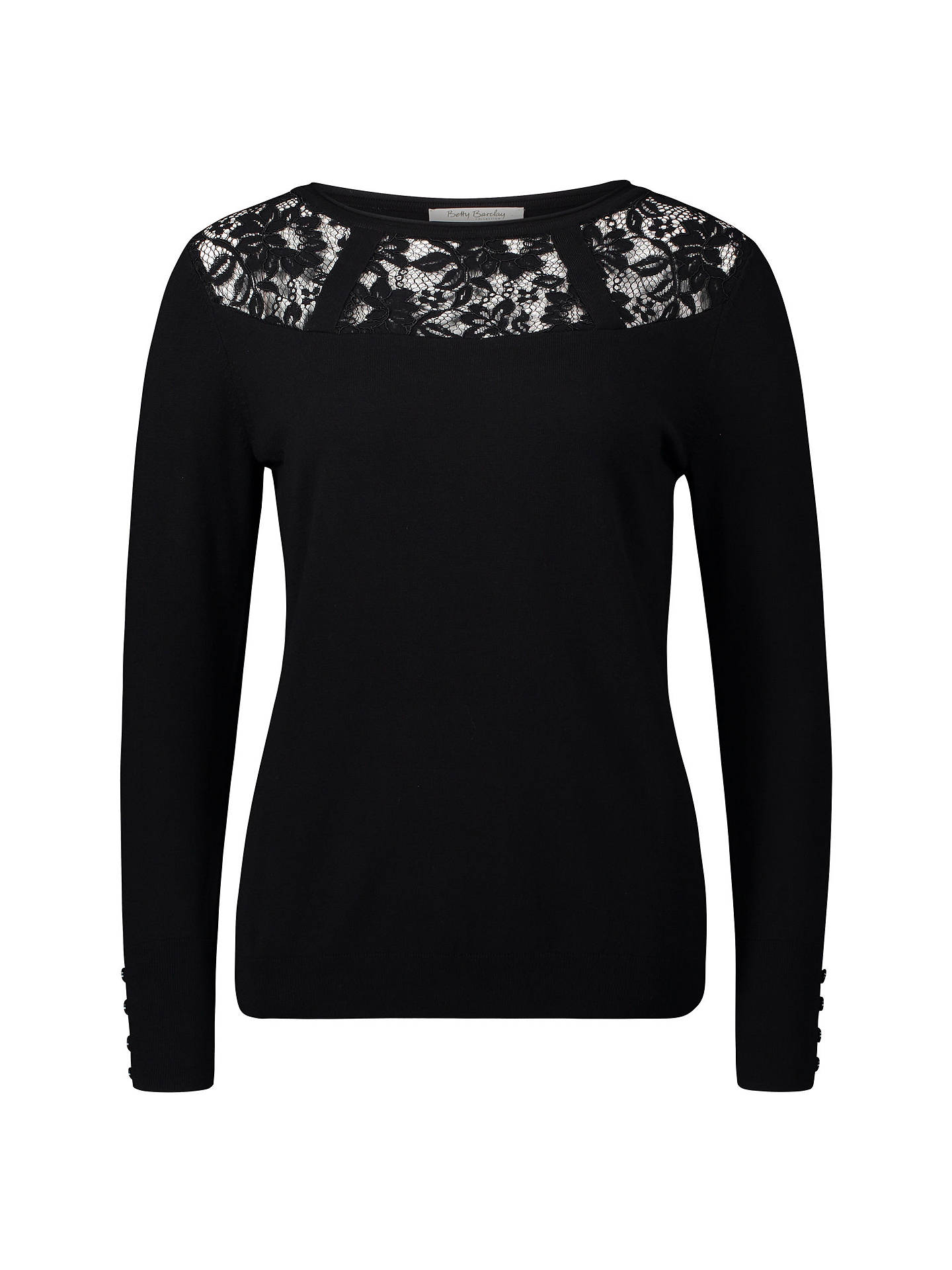 BuyBetty Barclay Lace Trimmed Top, Black, 10 Online at johnlewis.com