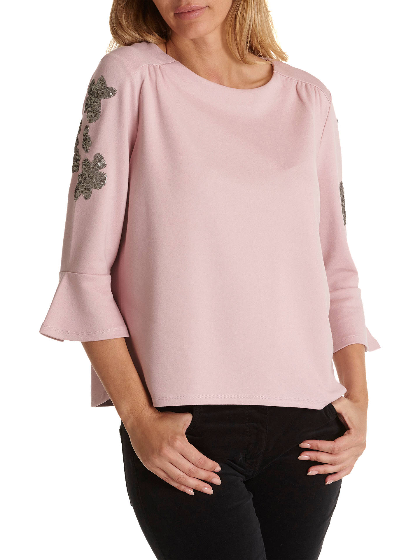 BuyBetty Barclay Embellished Sleeve Top, Pink, 10 Online at johnlewis.com  ... 7cd7310dd1