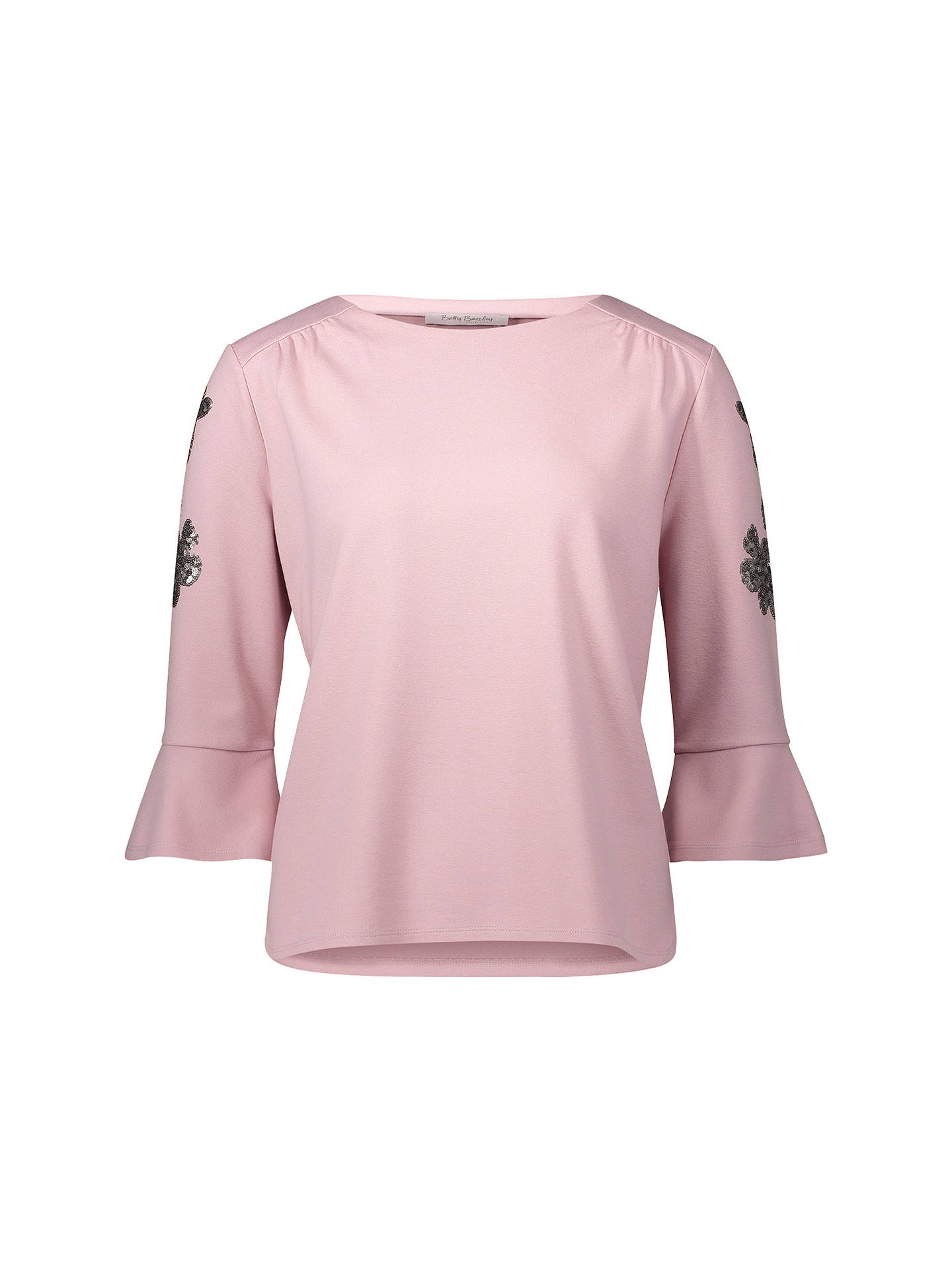 ... BuyBetty Barclay Embellished Sleeve Top, Pink, 10 Online at  johnlewis.com ... b667b5c9c6