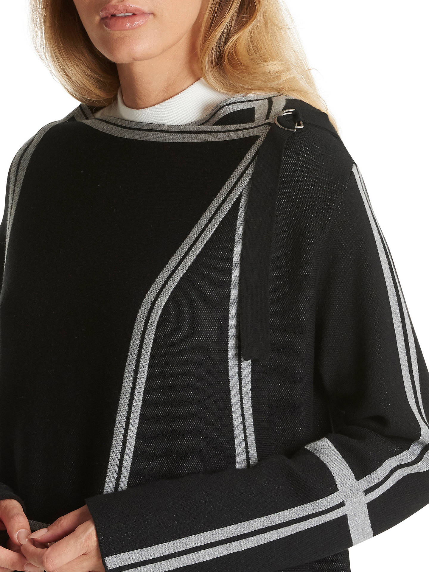 Buy Betty Barclay Wrapped Cardigan, Black/Grey, 10 Online at johnlewis.com