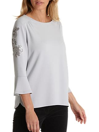 Betty Barclay Embellished Sleeve Top, Pale Mauve