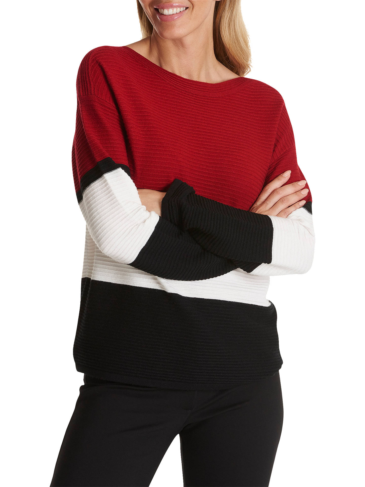 BuyBetty Barclay Striped Jumper, Dark Red/Black, 14 Online at johnlewis.com