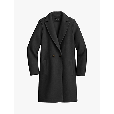 J.Crew Daphne Pure Wool Coat, Black