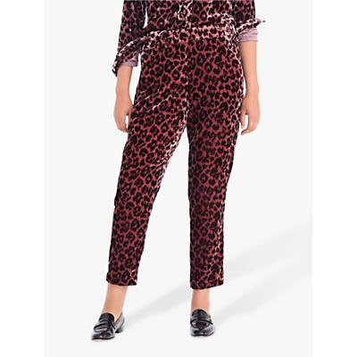 J.Crew Velvet Easy Trousers, Rose Leopard