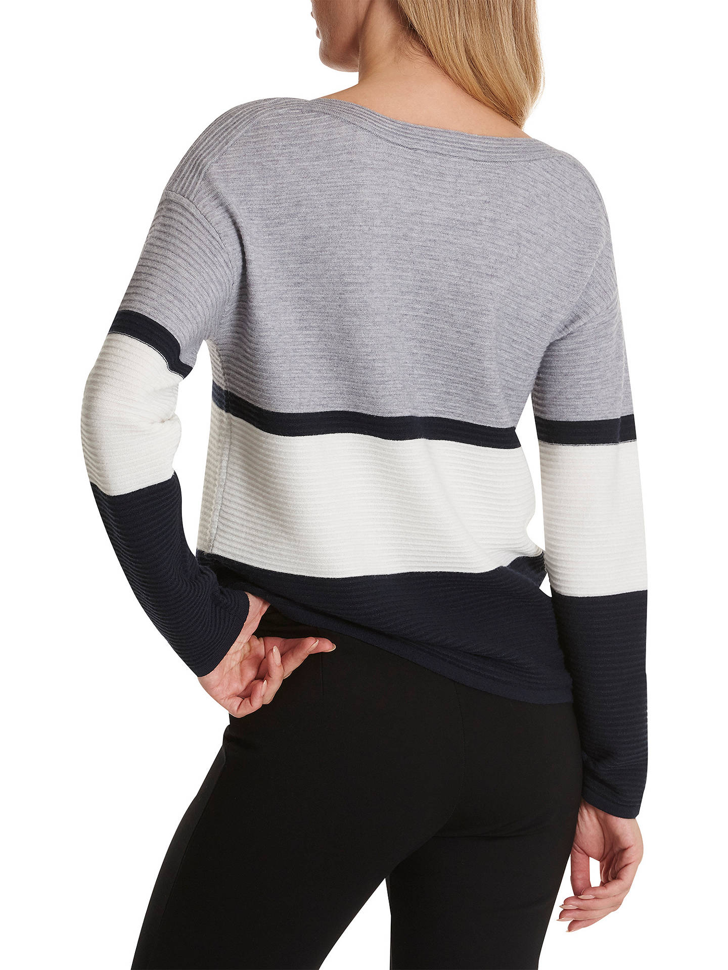 BuyBetty Barclay Colour Block Striped Jumper, Blue Mid, 10 Online at johnlewis.com