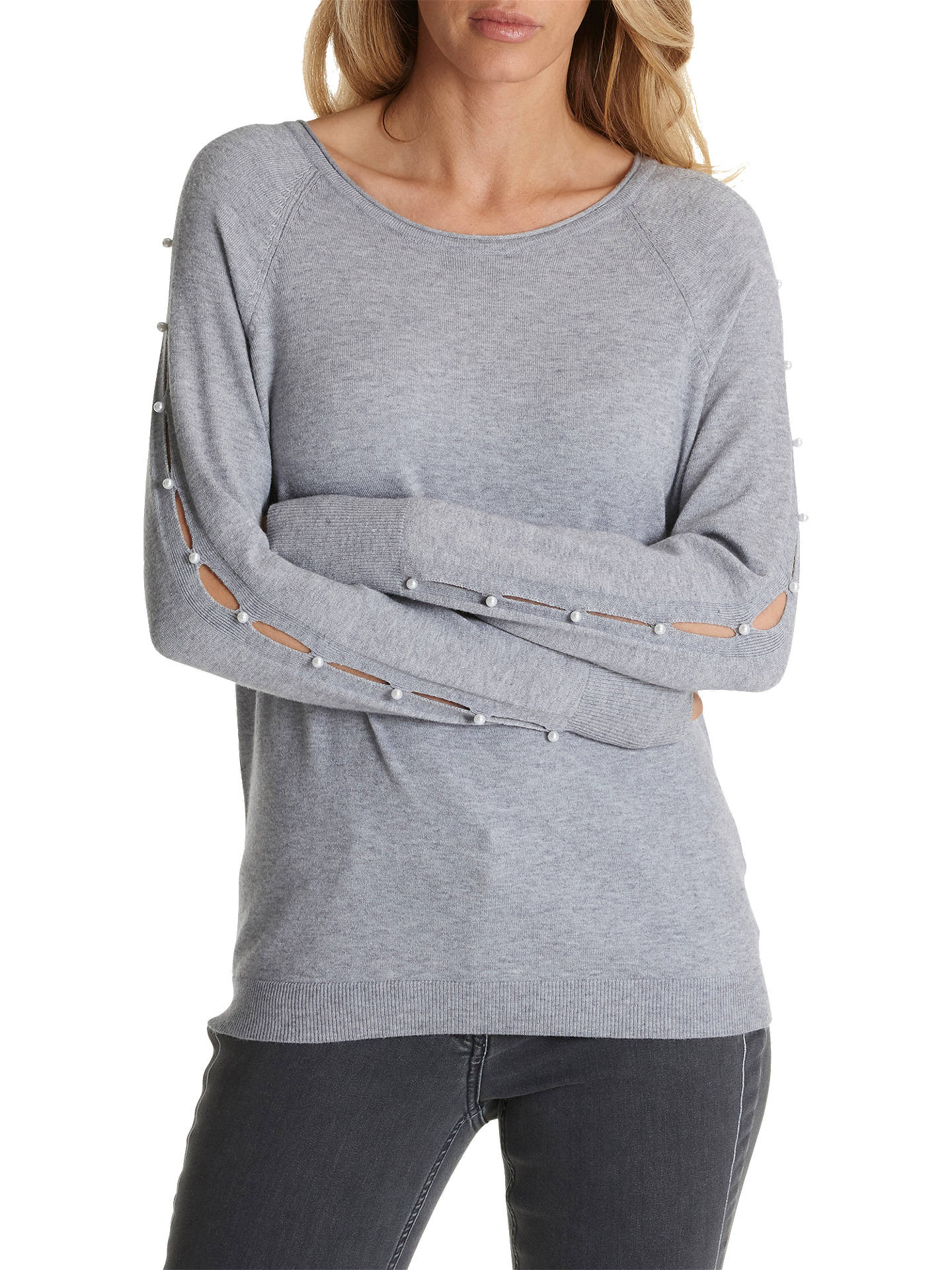 BuyBetty Barclay Keyhole Slit Embellished Knit Jumper, Multi Grey, 14 Online at johnlewis.com