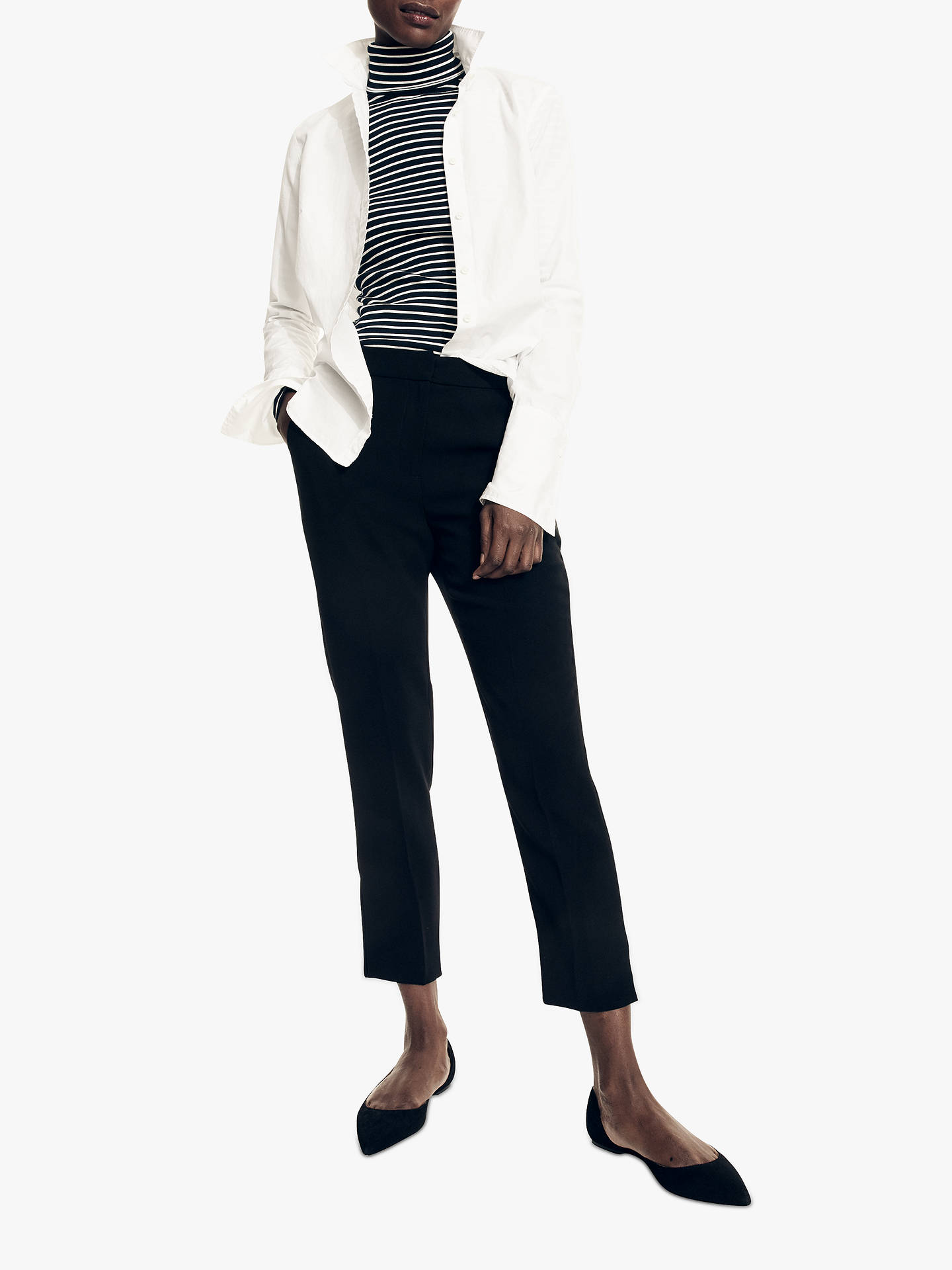 BuyJ.Crew Pull-On Easy Trousers, Black, 2 Online at johnlewis.com