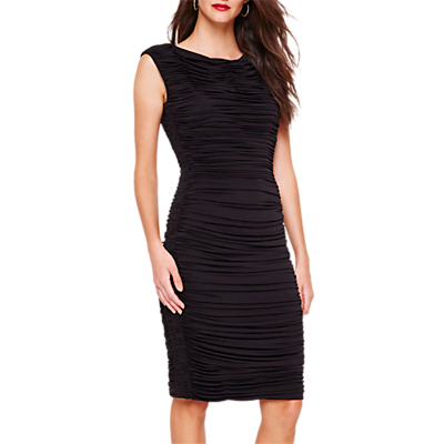 Damsel in a Dress Allie Sleeveless Ruched Dress, Black