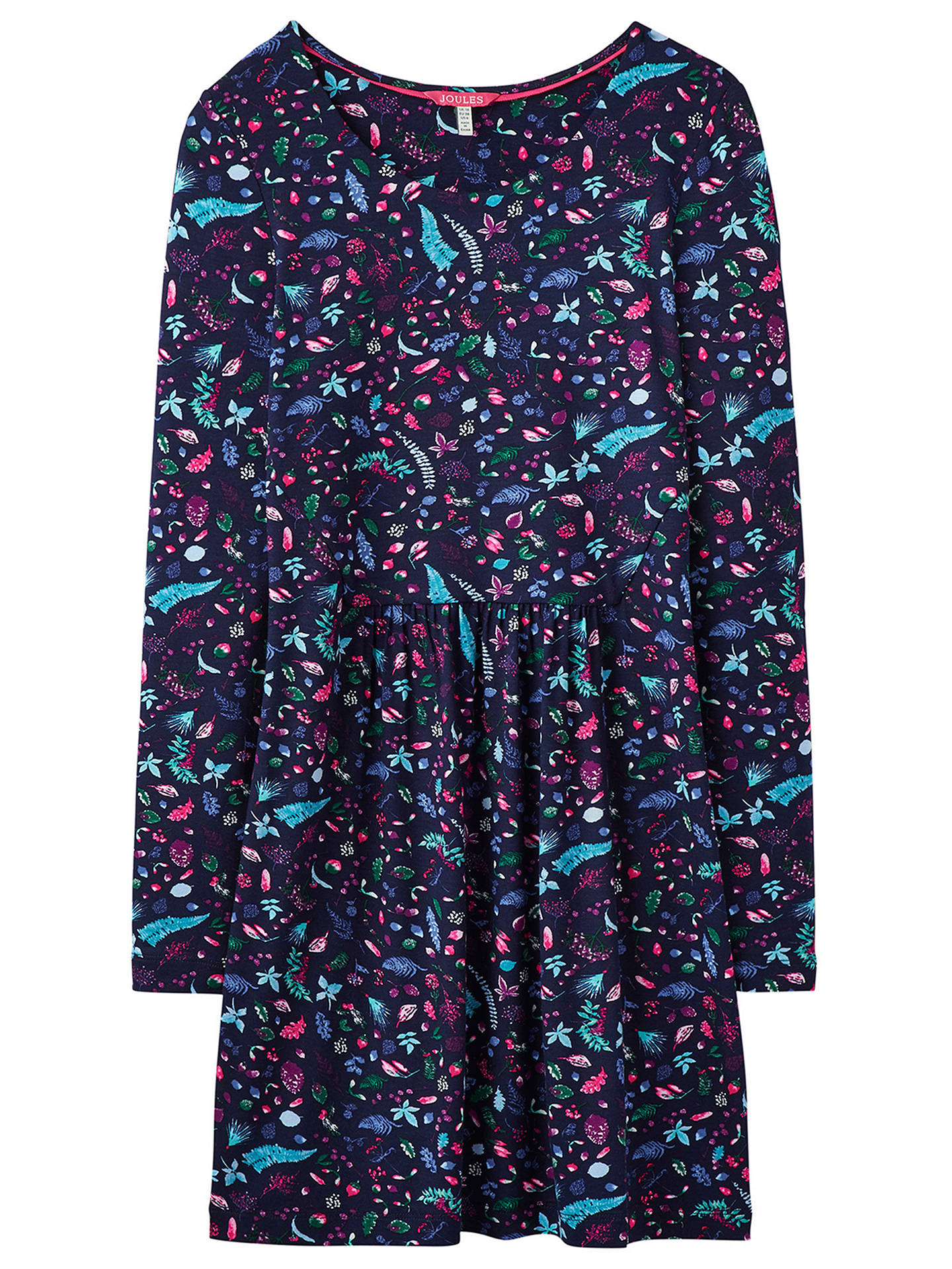 2a753f01943 ... Buy Joules Kirsten Jersey Tunic Dress, Navy, 6 Online at johnlewis.com  ...