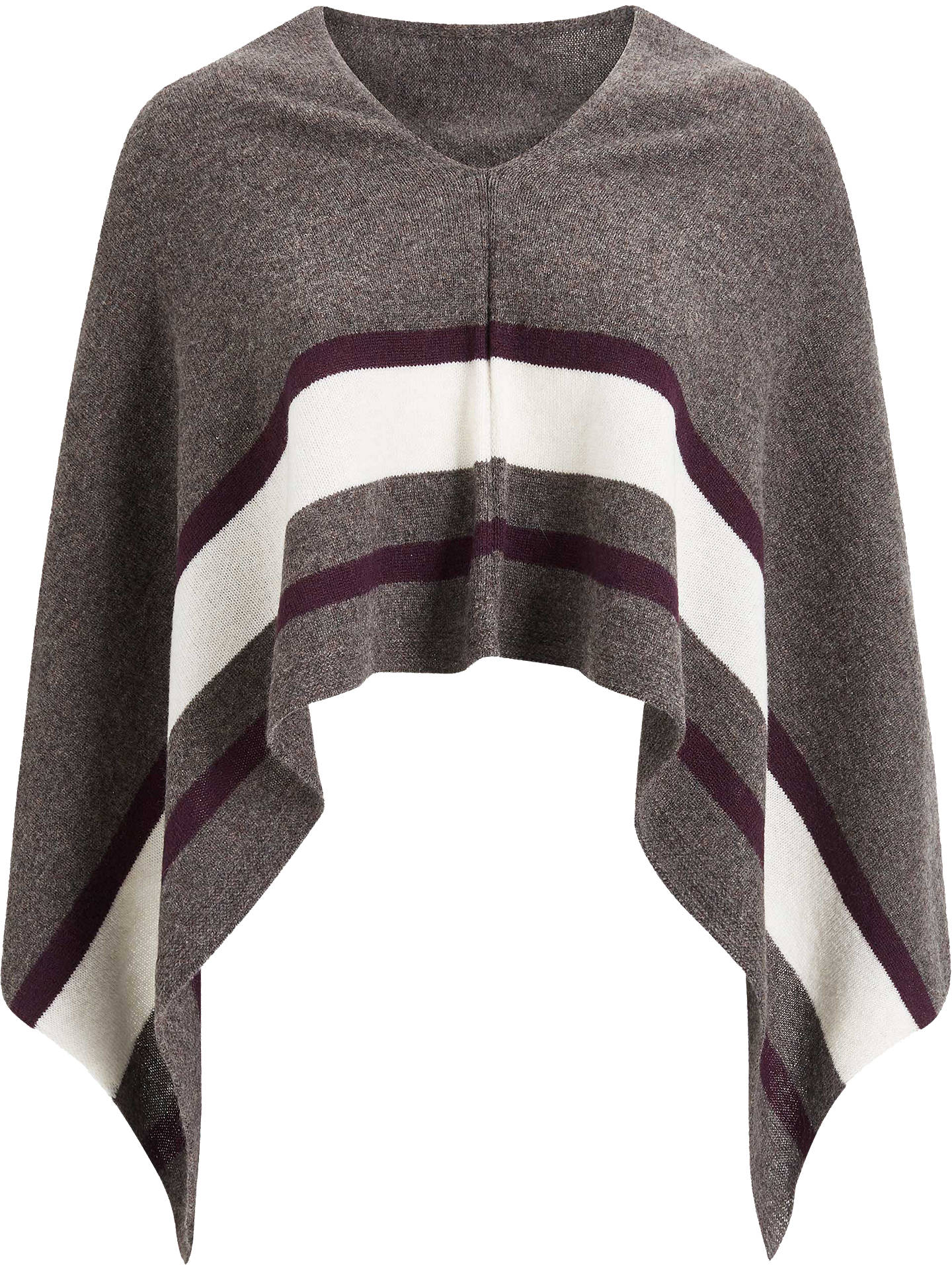 BuyBrora Cashmere Colour Block Knit Poncho, Elephant Online at johnlewis.com