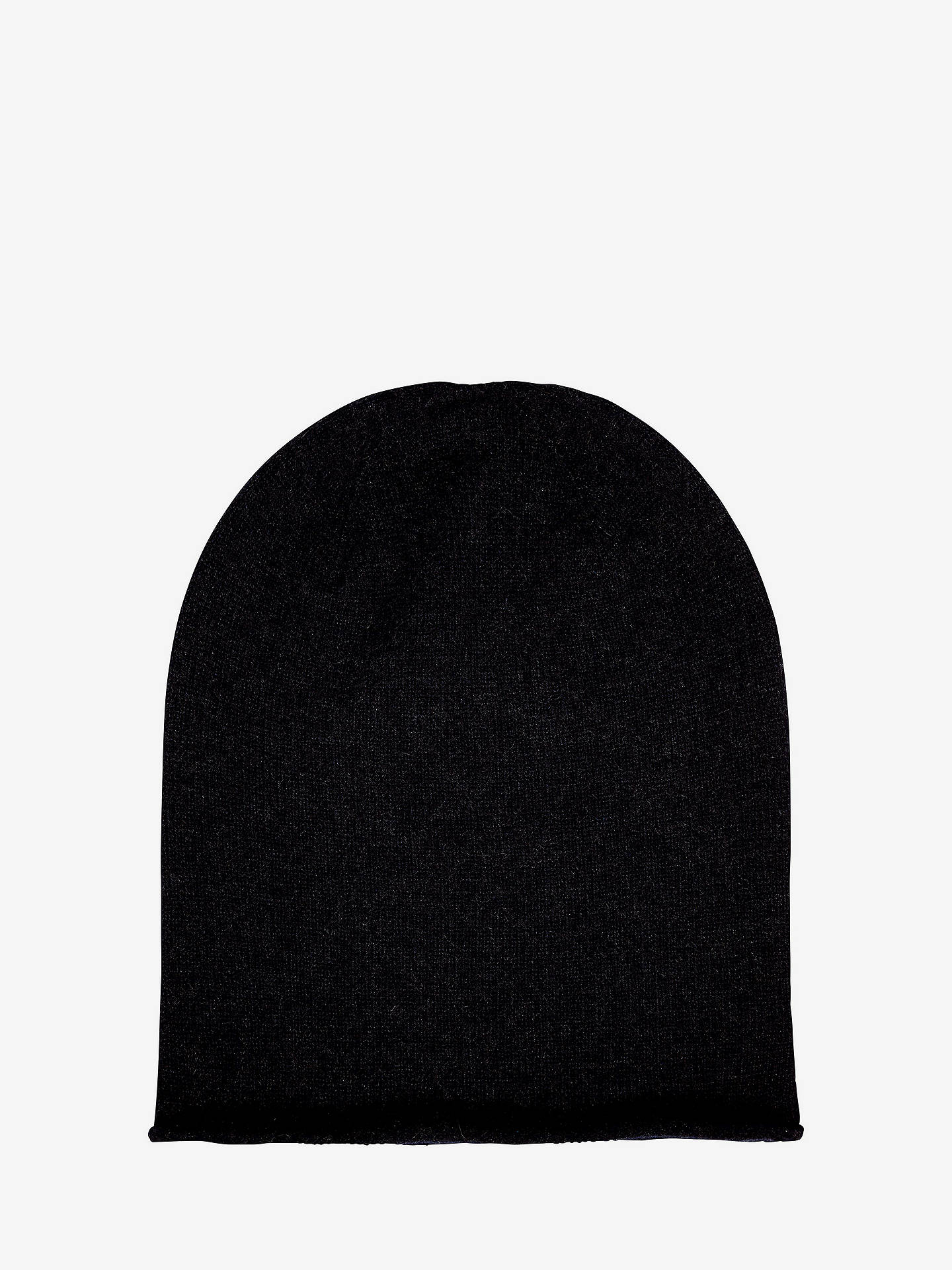 BuyBrora Cashmere Beanie, One Size, Black Online at johnlewis.com