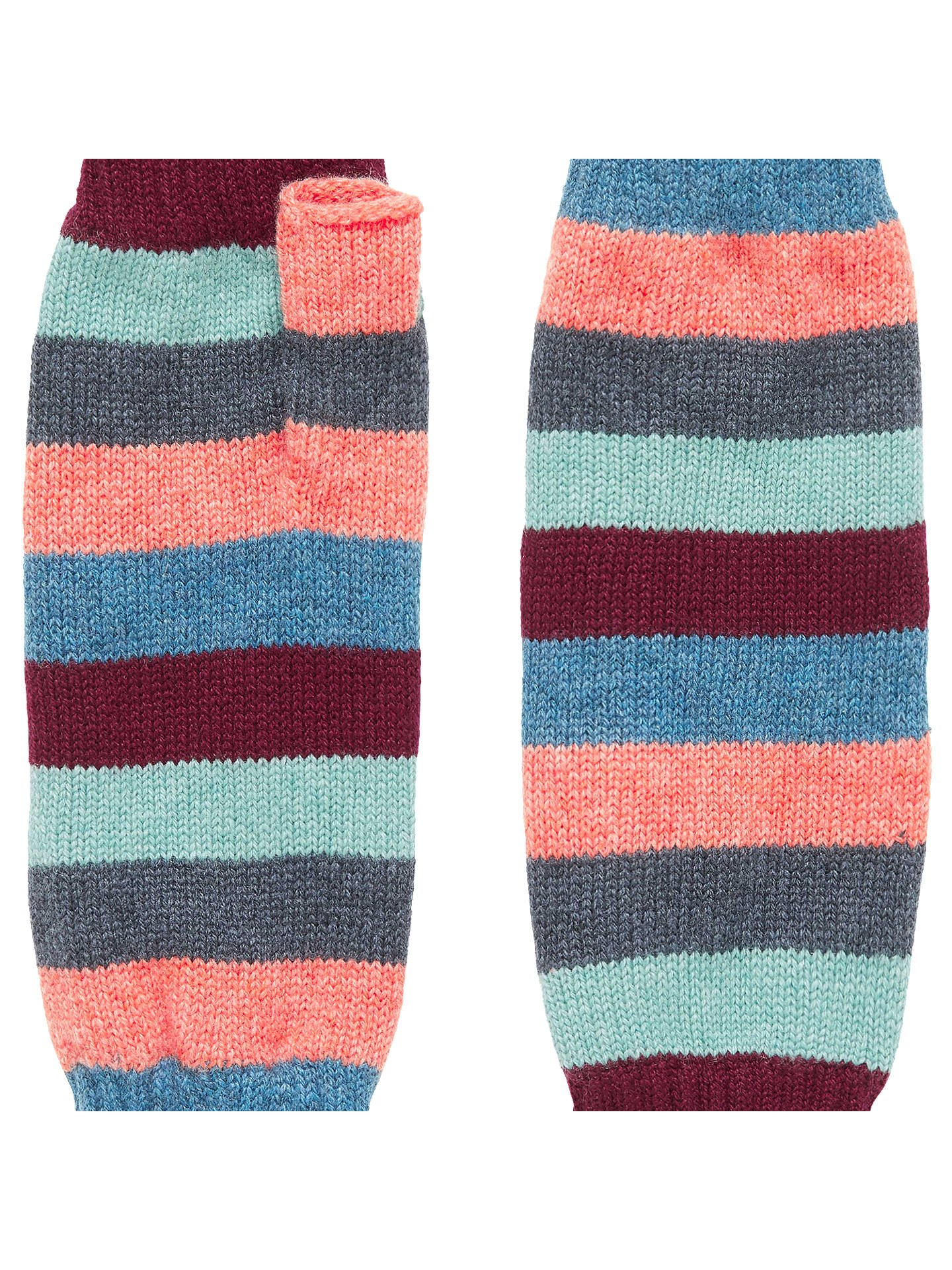 Buy Brora Colour Block Cashmere Wristwarmers, Rainbow, One Size Online at johnlewis.com