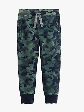 crewcuts by J.Crew Boys' Slim Fit Camouflage Joggers, Light Wash Indigo