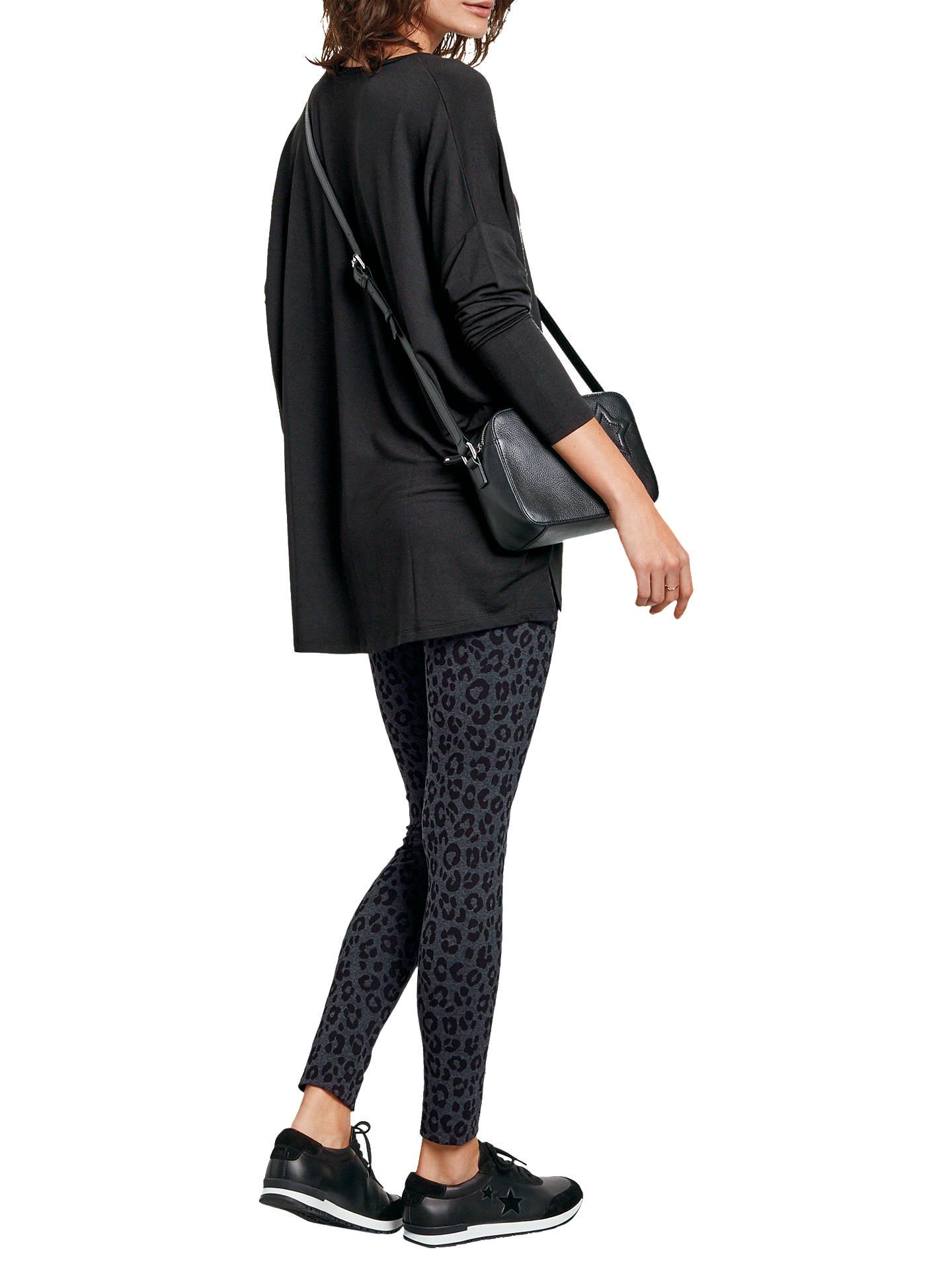 a0bfa8c6c39280 ... Buy hush Leopard Printed Leggings, Black, XS Online at johnlewis.com ...