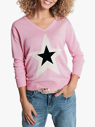 hush Stella Star Jumper, Light Pink