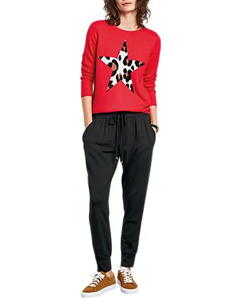 hush Leopard Star Jumper, Red Multi
