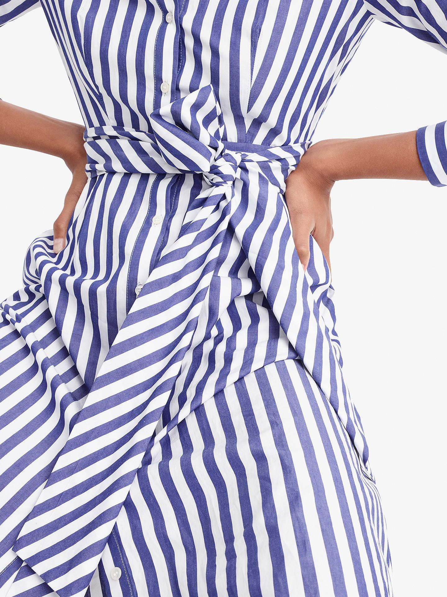 977a6c8e7 ... Buy J.Crew Sybil Tie Waist Shirt Dress, Tushar Stripe Lighthouse, 2  Online