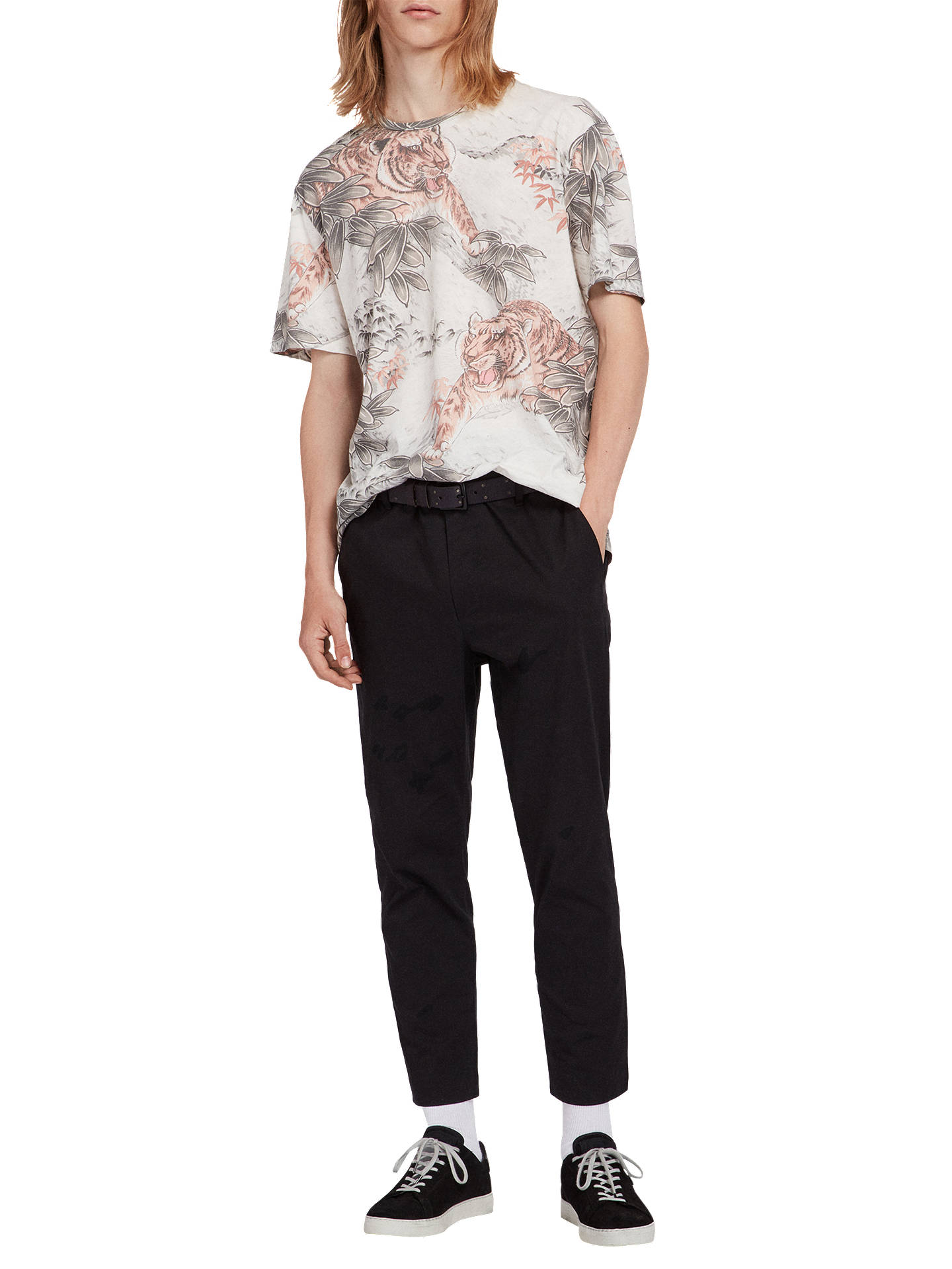 BuyAllSaints Chokai Crew T-Shirt, White, L Online at johnlewis.com