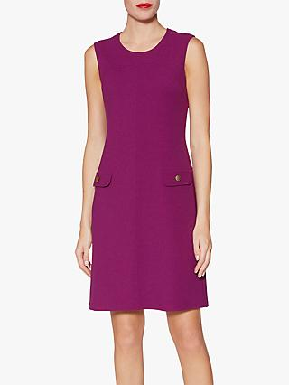 Gina Bacconi Riley Scuba Crepe Dress, Aubergine