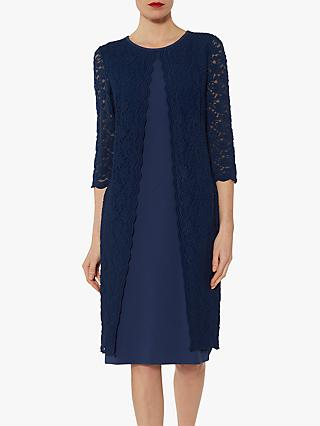 Gina Bacconi Kimora Crepe Lace Dress