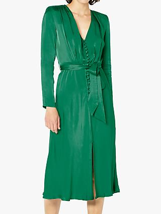 Ghost Meryl Satin Button Dress