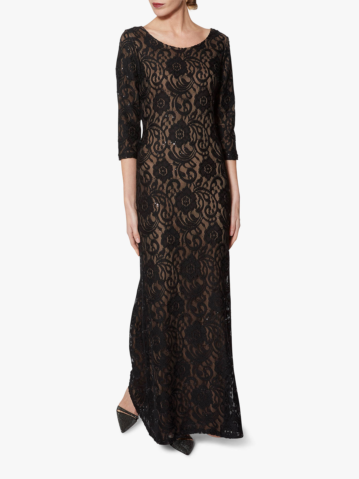 b90447ffe6c Gina Bacconi Mirabella Lace Overlay Maxi Dress, Black