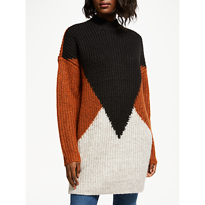 Y.A.S Oversized Colour Block Knit Jumper, Multi