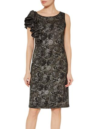 Gina Bacconi Nikita Frill Dress, Black