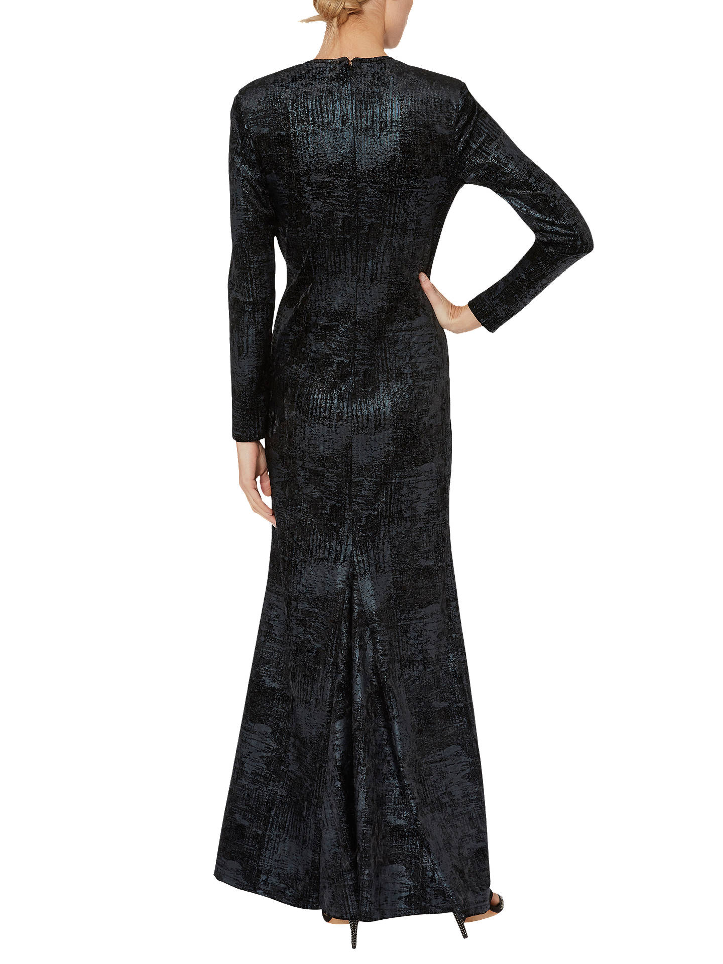 BuyGina Bacconi Lovetta Check Maxi Dress, Black, 18 Online at johnlewis.com