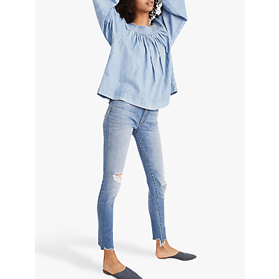 Madewell 9 High-Rise Ripped Skinny Jeans, Frankie Wash