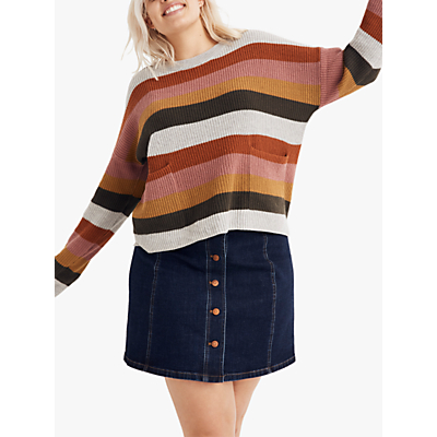 Madewell Patch Pocket Pullover Sweater, Arctic Ice